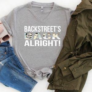 Backstreet Boys women's vneck shirt S-3XL